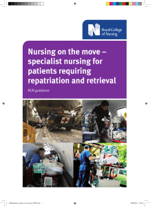 Nursing on the move – specialist nursing for patients requiring