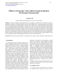 Efficacy of Economic Value Added Concept in Business