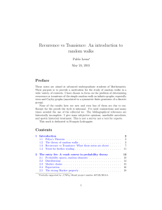 Recurrence vs Transience: An introduction to random walks