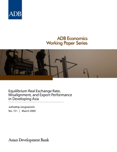 Equilibrium Real Exchange Rate, Misalignment, and Export