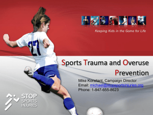 STOP Sports Injury Presentation