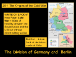 26.1 Origins of the Cold War