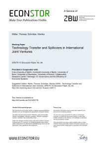 Technology Transfer and Spillovers in International Joint