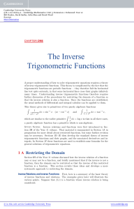 The Inverse Trigonometric Functions - Beck-Shop