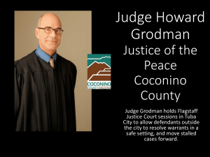 Judge Howard Grodman Justice of the Peace Coconino County