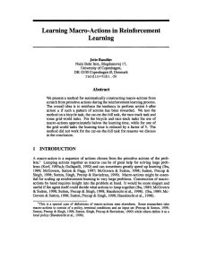 Learning Macro-Actions in Reinforcement Learning