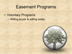 Easement Programs