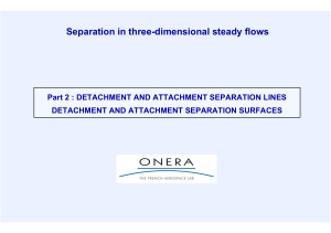 Separation in three-dimensional steady flows