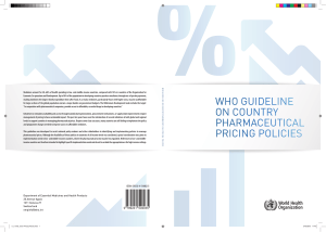 WHO Guideline on Country Pharmaceutical Pricing Policies
