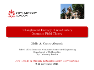 Entanglement Entropy of non-Unitary Quantum Field Theory