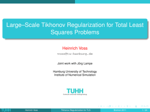 Large–Scale Tikhonov Regularization for Total Least