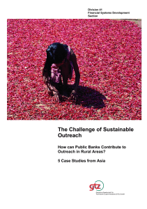 The Challenge of Sustainable Outreach: How can Public Banks