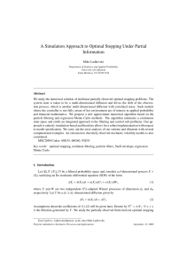 A Simulation Approach to Optimal Stopping Under Partial Information
