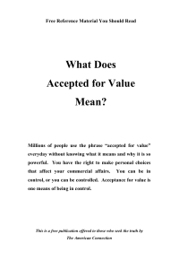 What Does Accepted for Value Mean?