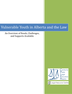 Vulnerable Youth in Alberta and the Law