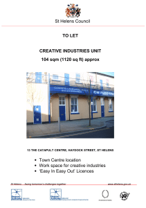 TO LET CREATIVE INDUSTRIES UNIT 104 sqm