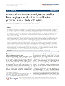 A method to calculate zero-signature satellite laser ranging normal