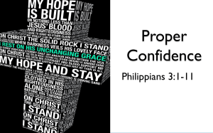 Proper Confidence - Belton Church of Christ