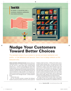 Nudge Your Customers