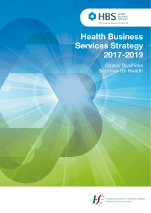 Health Business Services Strategy 2017-2019
