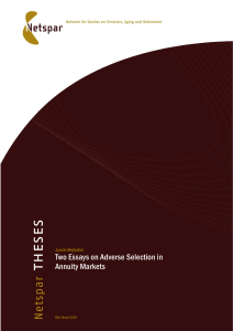 Two Essays on Adverse Selection in Annuity Markets