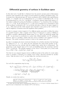 Differential geometry of surfaces in Euclidean space