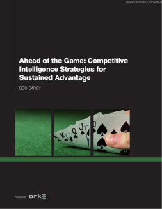 Ahead of the Game: Competitive Intelligence Strategies