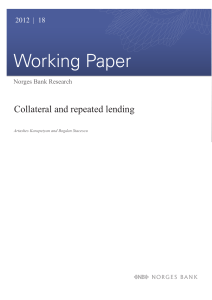 Norges Bank Working Paper 2012/18