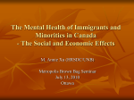 The Mental Health of Immigrants and Minorities in Canada