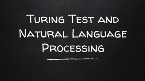 Turing Test and Natural Language Processing