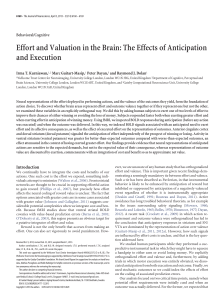 Effort and Valuation in the Brain