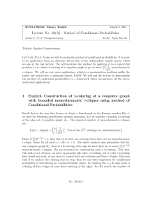 Lecture No. 10(A) : Method of Conditional Probabilities 1 - CSE-IITM