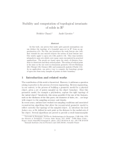 Stability and computation of topological invariants of solids in Rn