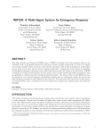 WIPER: A Multi-Agent System for Emergency Response