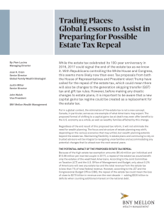 Trading Places: Global Lessons to Assist in Preparing for Possible