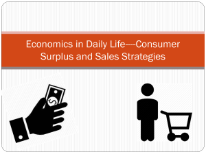 Economics in Daily Life----Consumer Surplus and Sales Strategies