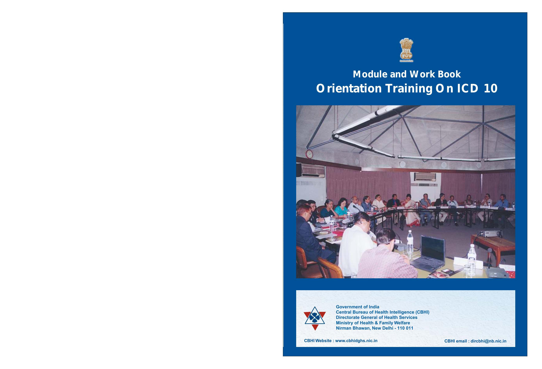 Orientation Training on ICD 10 - Central Bureau of Health