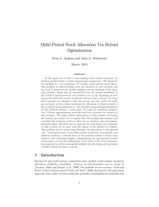 Multi-Period Stock Allocation Via Robust Optimization