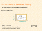 Foundations of Software Testing Volume One