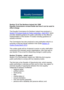 Themes of New S75 Guide - Equality Commission for Northern Ireland