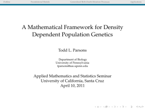 A Mathematical Framework for Density Dependent Population
