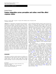 Feature integration across perception and action: event files affect