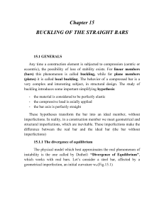 Chapter 15 BUCKLING OF THE STRAIGHT BARS