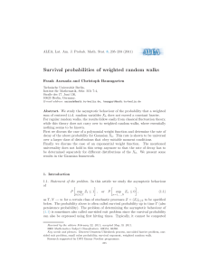 Survival probabilities of weighted random walks