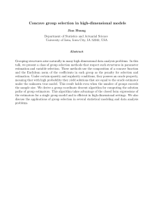 Concave group selection in high-dimensional models