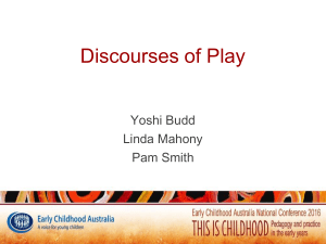 Discourses of Play