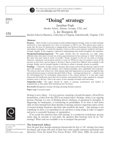 """Doing"" strategy - Strategic Leadership Forum"