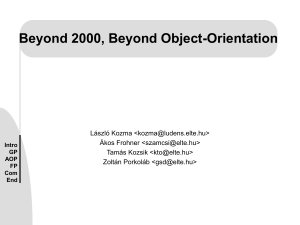 Beyond 2000 Beyond Object-Orientation