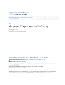 Metaphysical Dependence and Set Theory