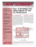 Sep 2001 New 16-Bit 50Msps DAC Offers Highest AC and DC